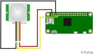 Senior Guardian Project for Raspberry Pi with PIR sensor